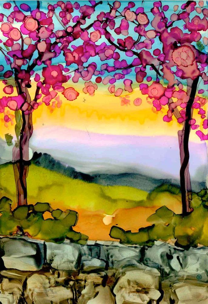 """Just Before Dusk"" original fine art by Kelly Alge"