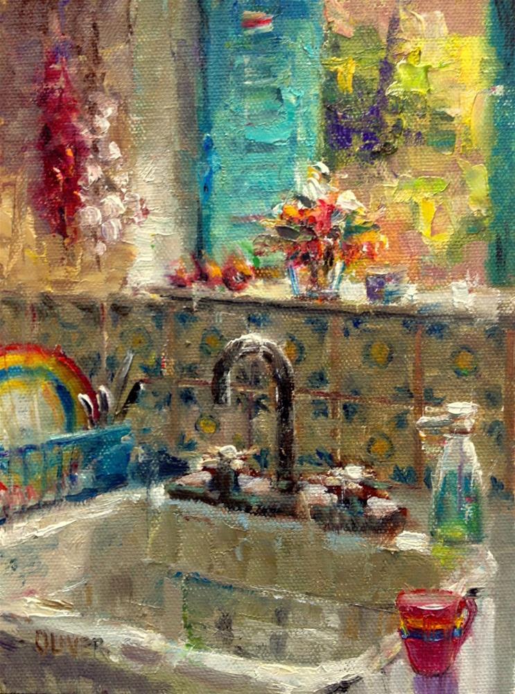 """New Mexico Kitchen Sink"" original fine art by Julie Ford Oliver"