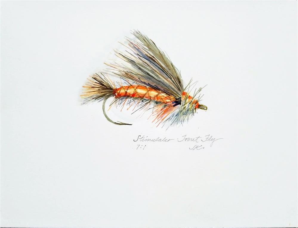 """Stimulator - Trout Fly"" original fine art by Jean Krueger"