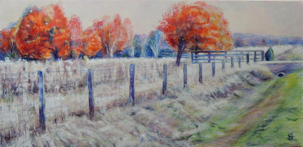 """Moving Into Fall"" original fine art by Belinda Scheber"