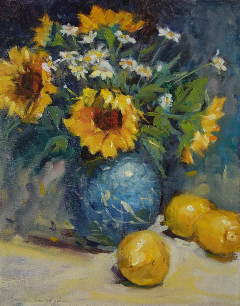 """Symphony of Yellow and Blue"" original fine art by Lorraine Lewitzka"