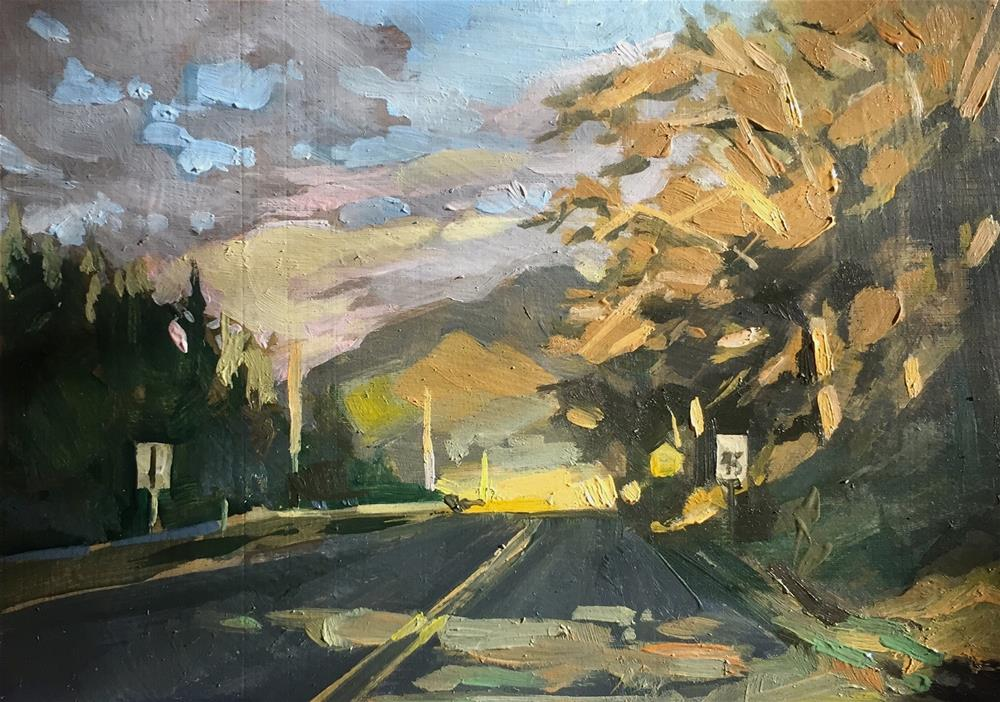 """Speed Limit"" original fine art by Chris Long"