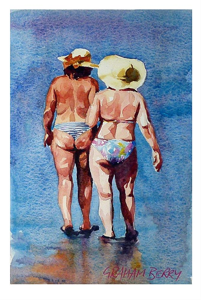 """Beach walkers."" original fine art by Graham Berry"