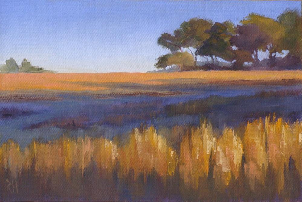 """""""Fall Fields 3"""" original fine art by Rebecca Helton"""