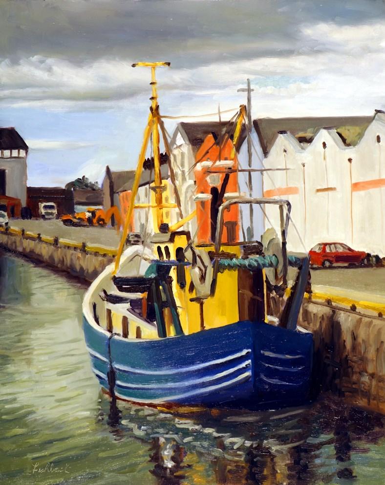 """Galway City Ireland Boat"" original fine art by Daniel Fishback"
