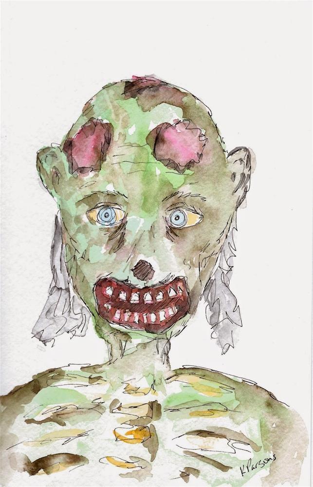 """Happy Halloween!!"" original fine art by Kali Parsons"