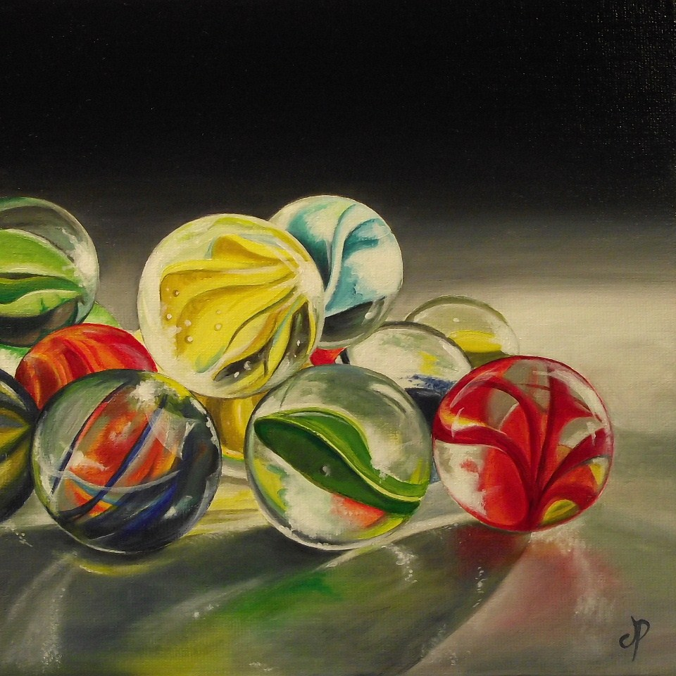 """""""Glass Marbles now Available"""" original fine art by Jane Palmer"""