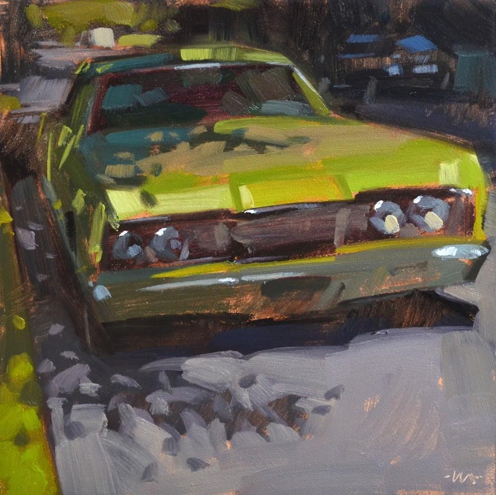 """""""Shady Green"""" original fine art by Carol Marine"""