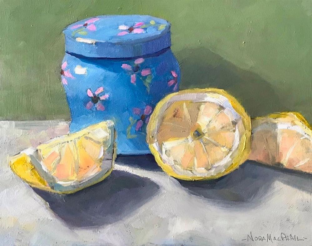 """""""Blue Citrus"""" original fine art by Nora MacPhail"""