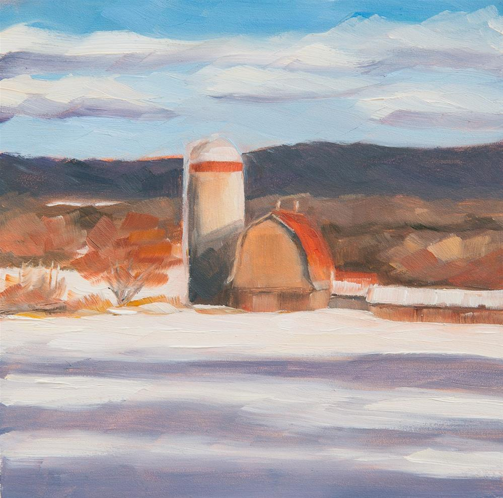 """#6 - Late Afternoon Shadows - Barn - Morrisville, VT"" original fine art by Sara Gray"