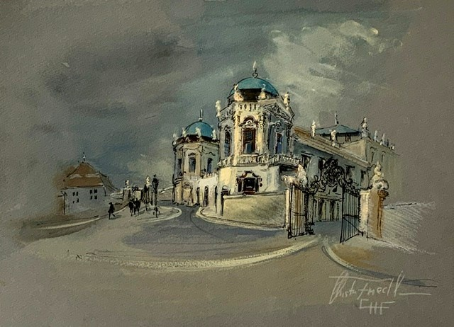 """Castle Belvedere"" original fine art by Christa Friedl"