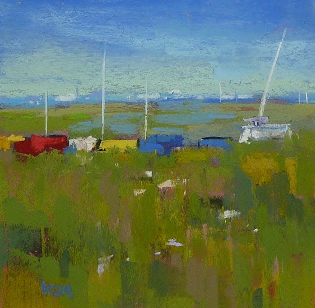 """Nantucket Sailboats"" original fine art by Karen Margulis"