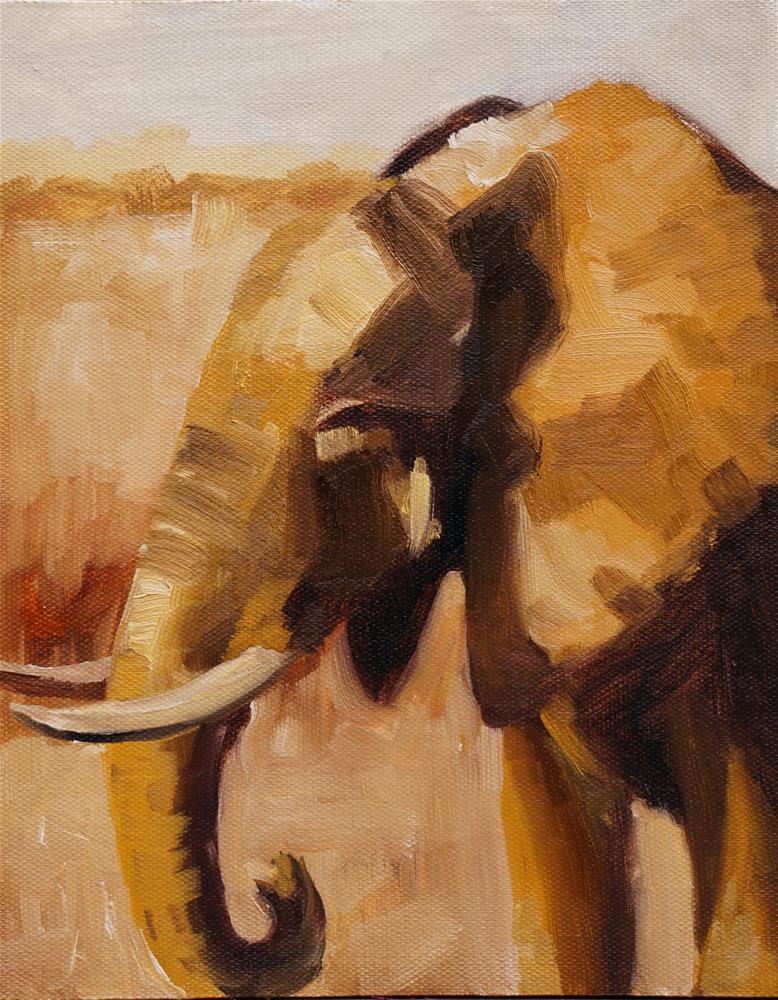 """Colonel Hathi"" original fine art by Catherine Van Berg"