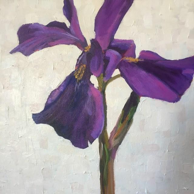 """Oh, Iris, 18x18 inch Acrylic by Kelley MacDonald"" original fine art by Kelley MacDonald"