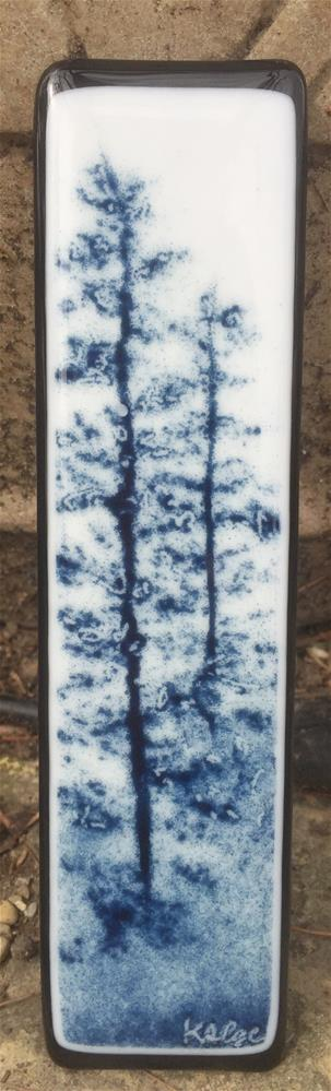"""Aventurine Blue Pines"" original fine art by Kelly Alge"