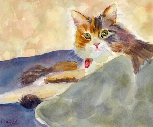 """""""Silken Sleeper"""" original fine art by Pamela Gatens"""