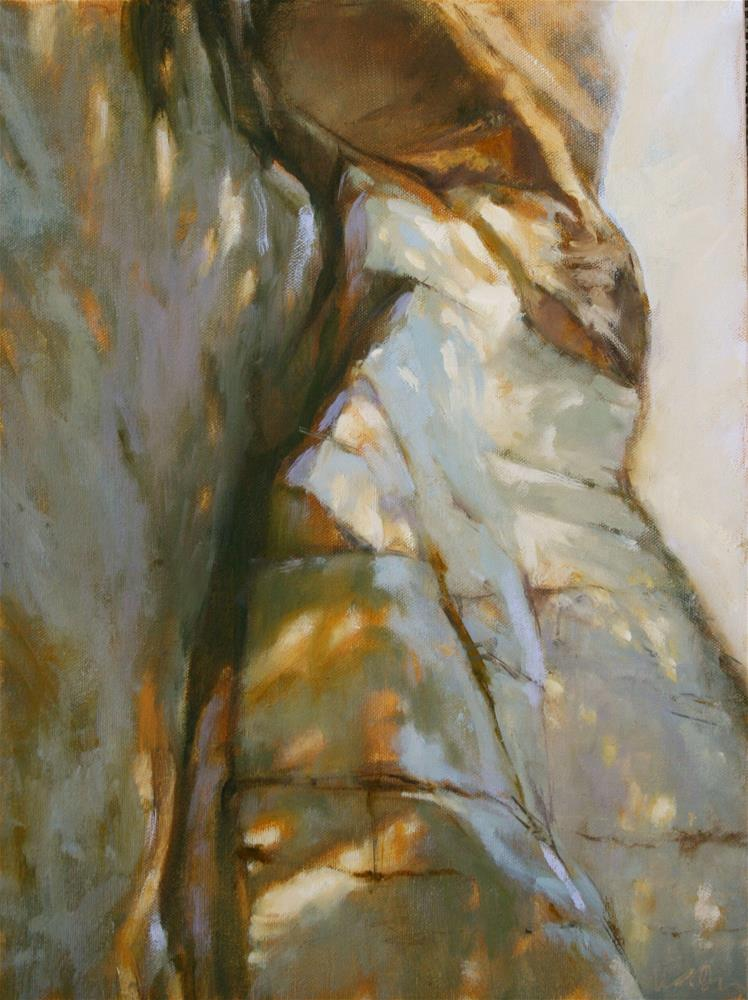 """On the Edge"" original fine art by Jane Robertson"