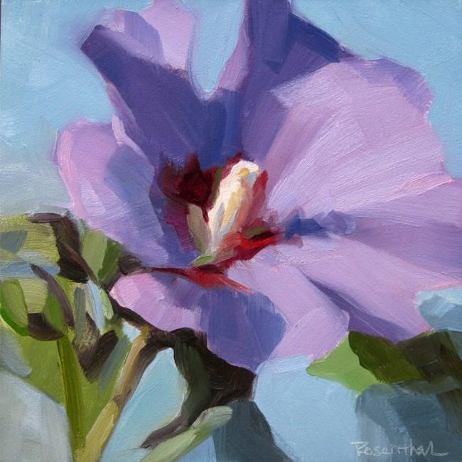 """Rose of Sharon 2013"" original fine art by Robin Rosenthal"