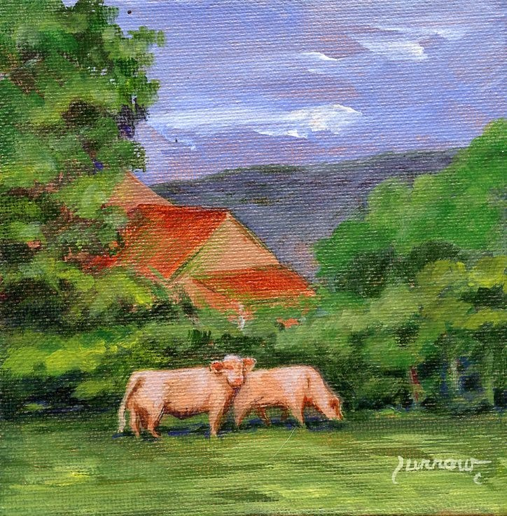 """Farm in Bedford"" original fine art by Sue Furrow"