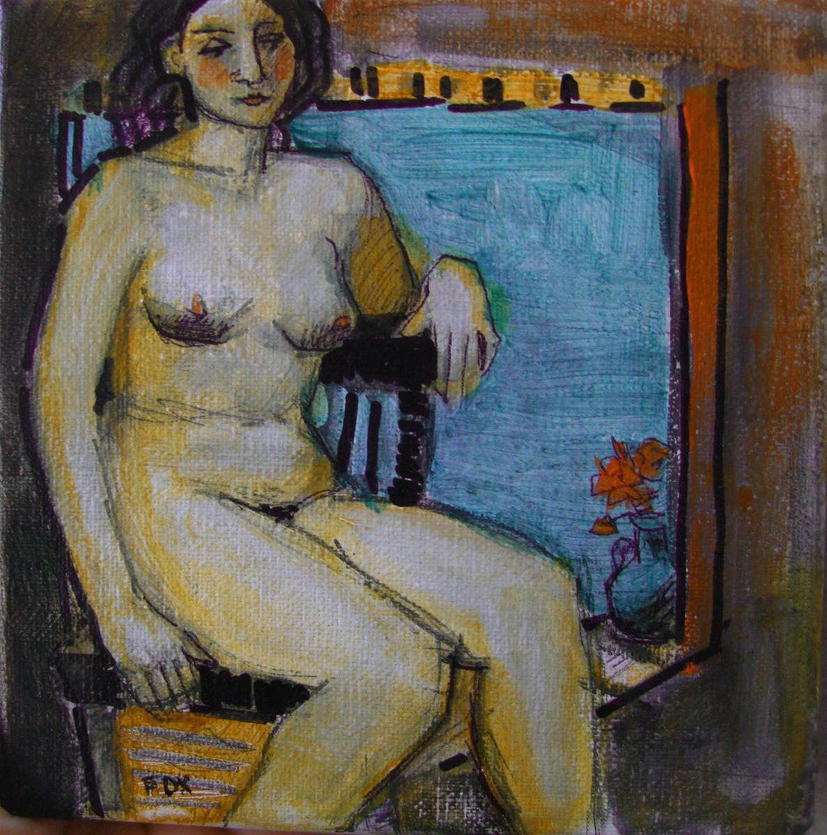 """Figurative painting, woman, nude, figure study, original art, Marie Fox"" original fine art by Marie Fox"