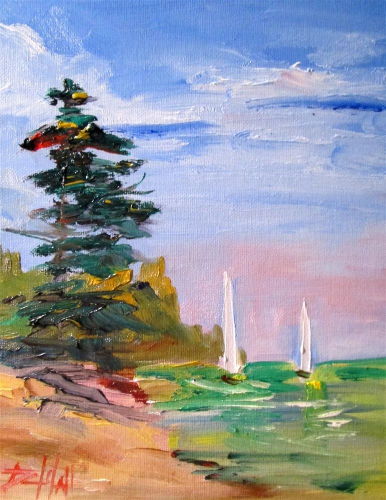 """Two Sails"" original fine art by Delilah Smith"