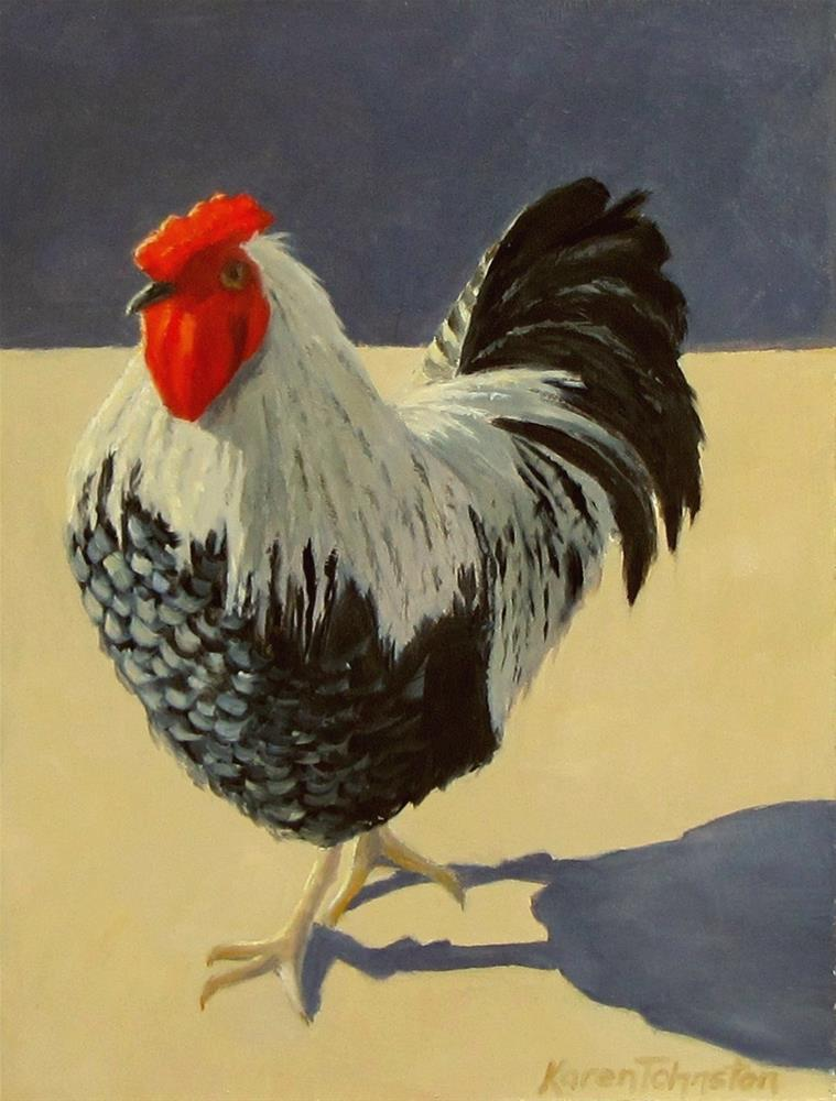 """Ruler of the Roost"" original fine art by Karen Johnston"