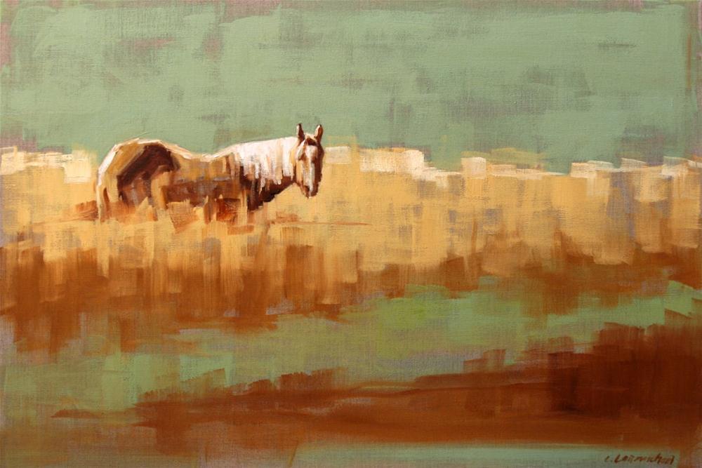 """chest high"" original fine art by Carol Carmichael"