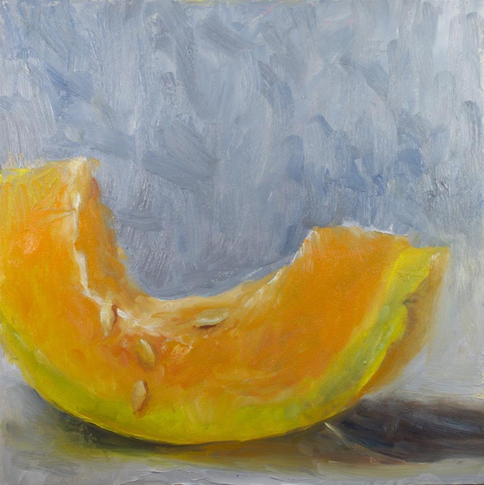 """""""Cantaloupe Sketch"""" original fine art by Sue Churchgrant"""
