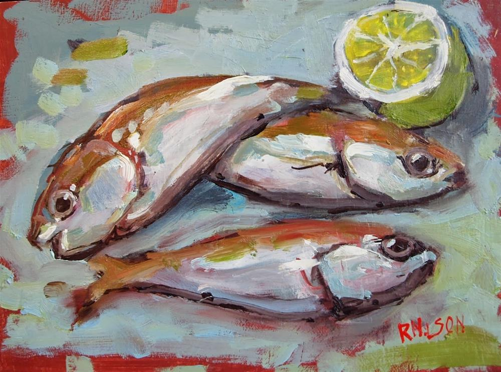 """""""Fish with Lime"""" original fine art by Rick Nilson"""