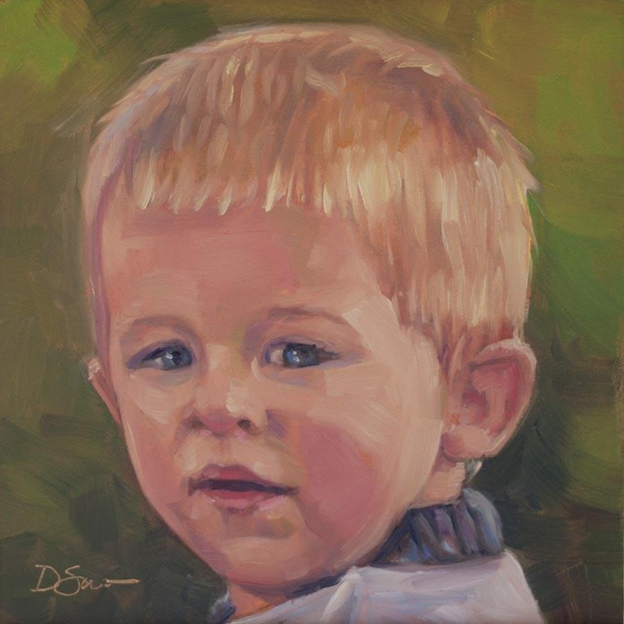 """""""Eyes of Love No.16 Noah"""" original fine art by Deborah Savo"""