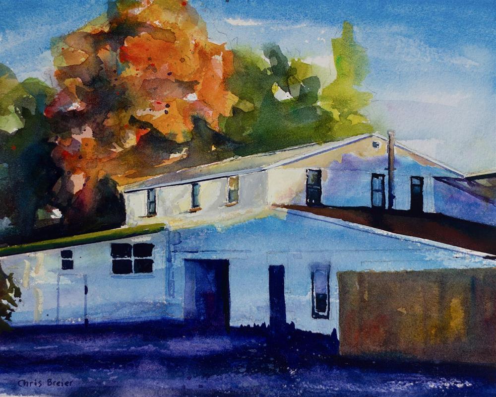 """The Repair Shop"" original fine art by Chris Breier"