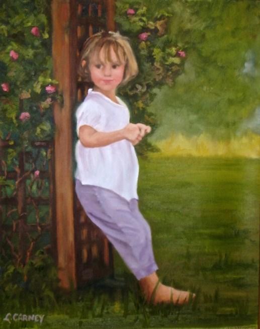 """Loves me, Loves me not"" original fine art by Linda Carney"