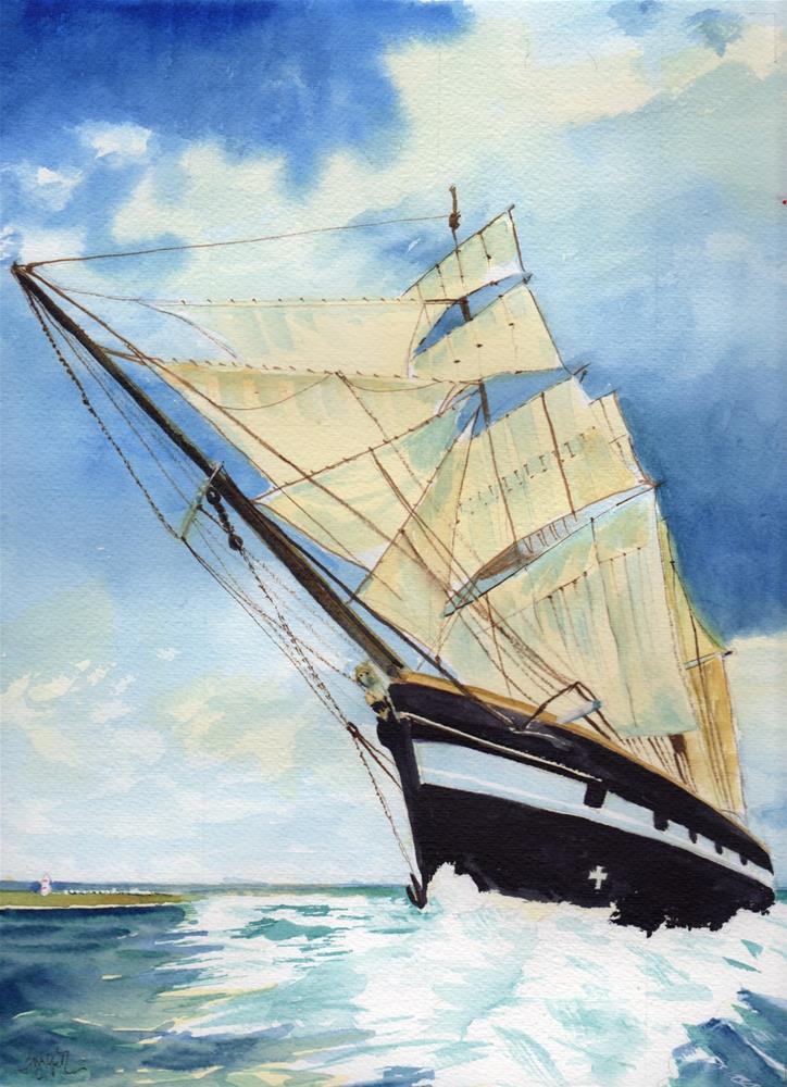 """Tall Ship "" original fine art by Bunny Griffeth"