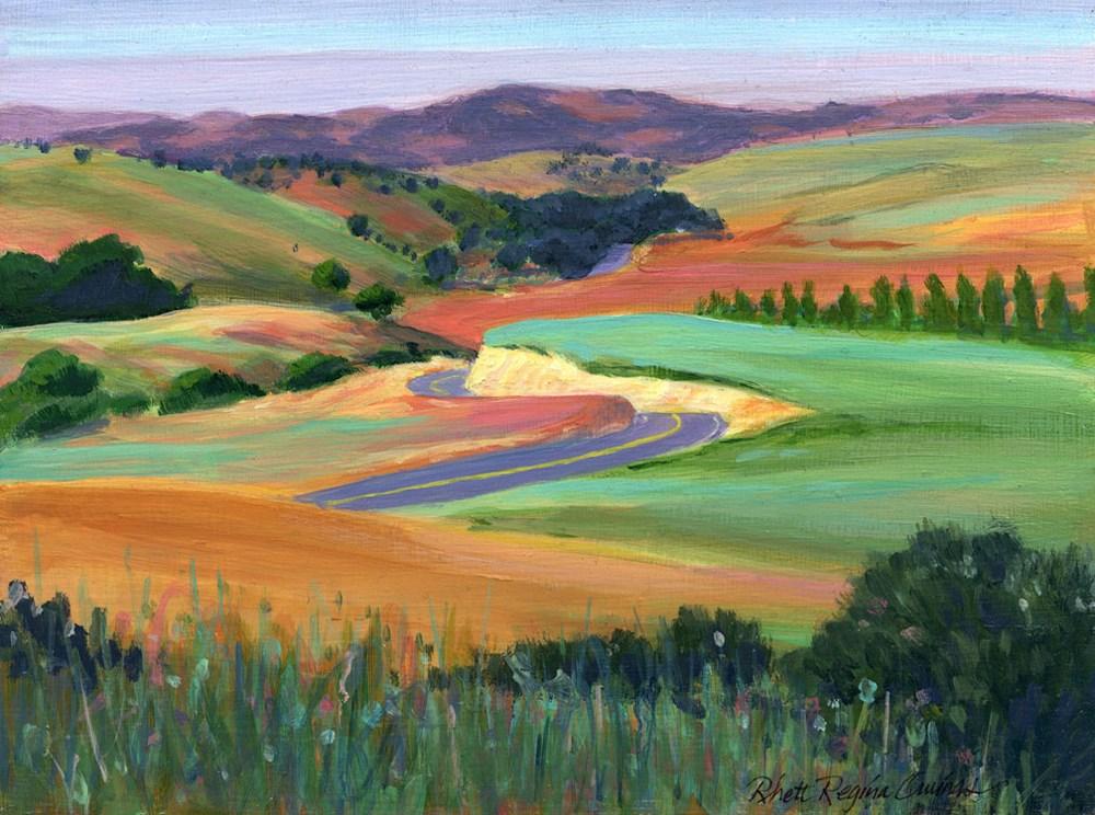 """""""Foothill Cliffs"""" original fine art by Rhett Regina Owings"""