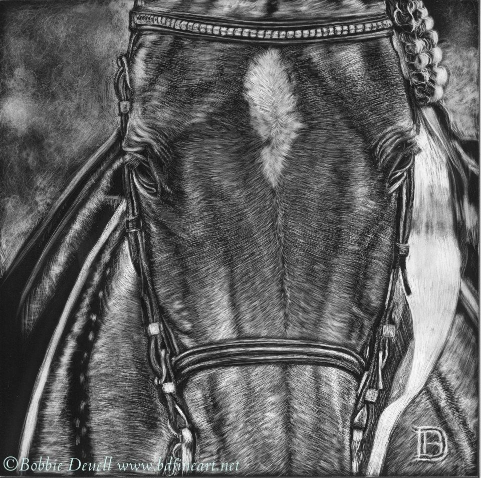 """""""#35 in the Ribbons"""" original fine art by Bobbie Deuell"""