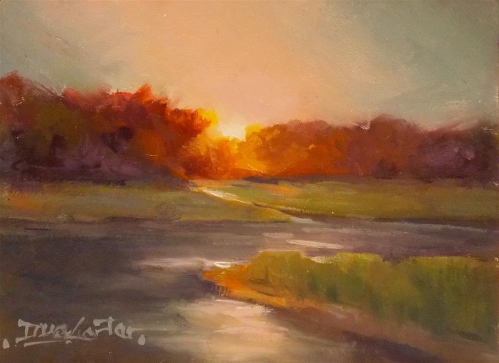 """ Breaking Light "" original fine art by Doug Carter"