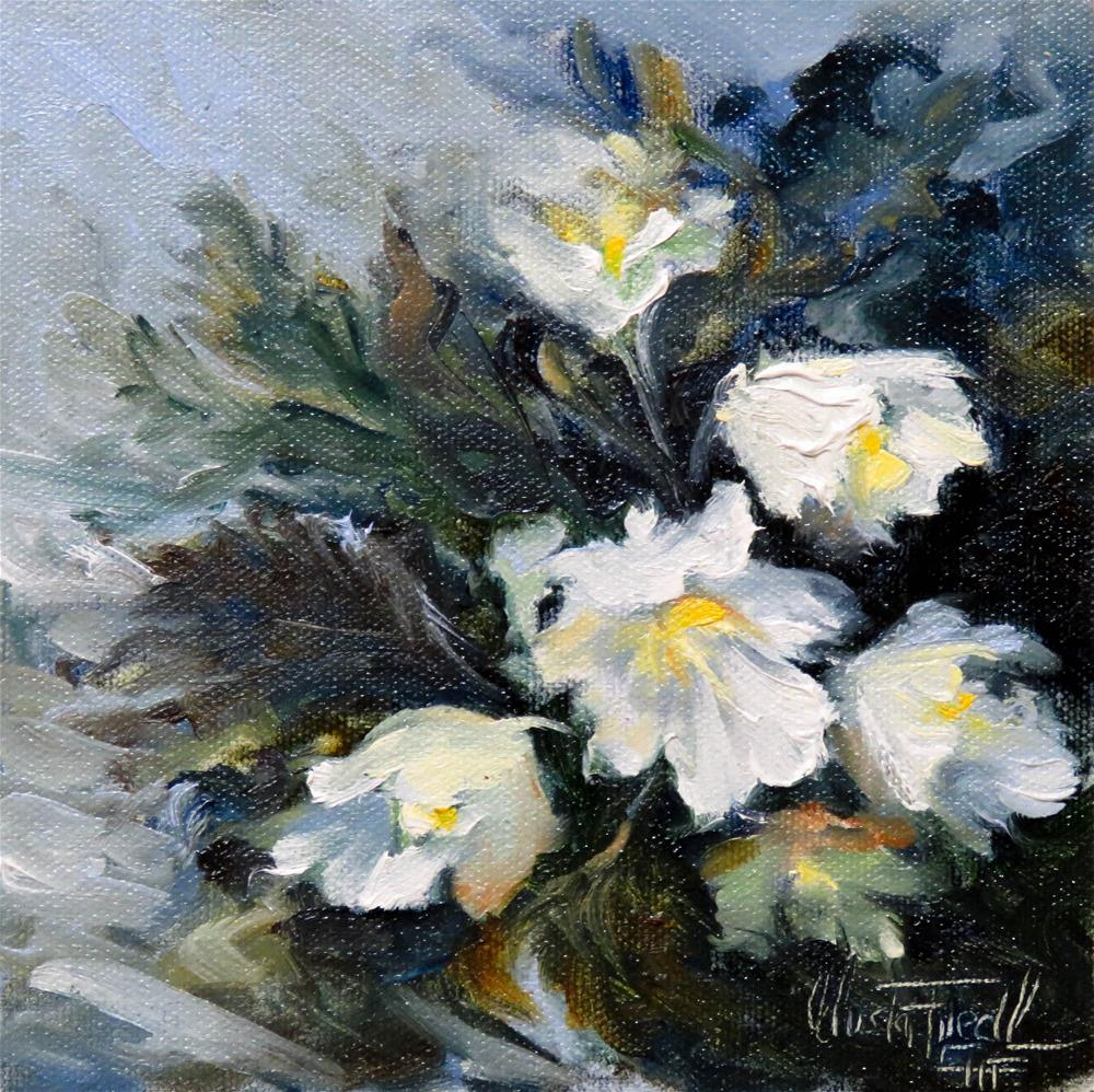"""Wild Christmas Roses"" original fine art by Christa Friedl"