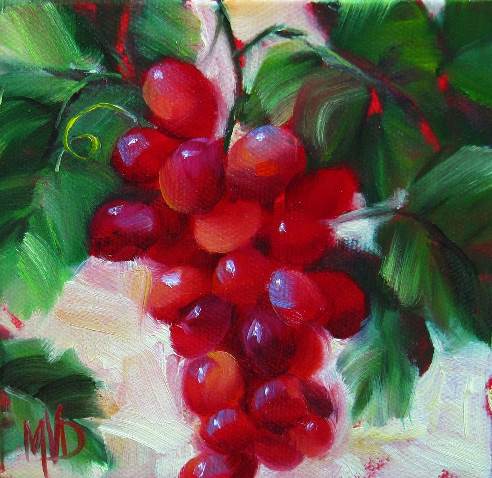 """Vineyard Reds"" original fine art by Mary Van Deman"