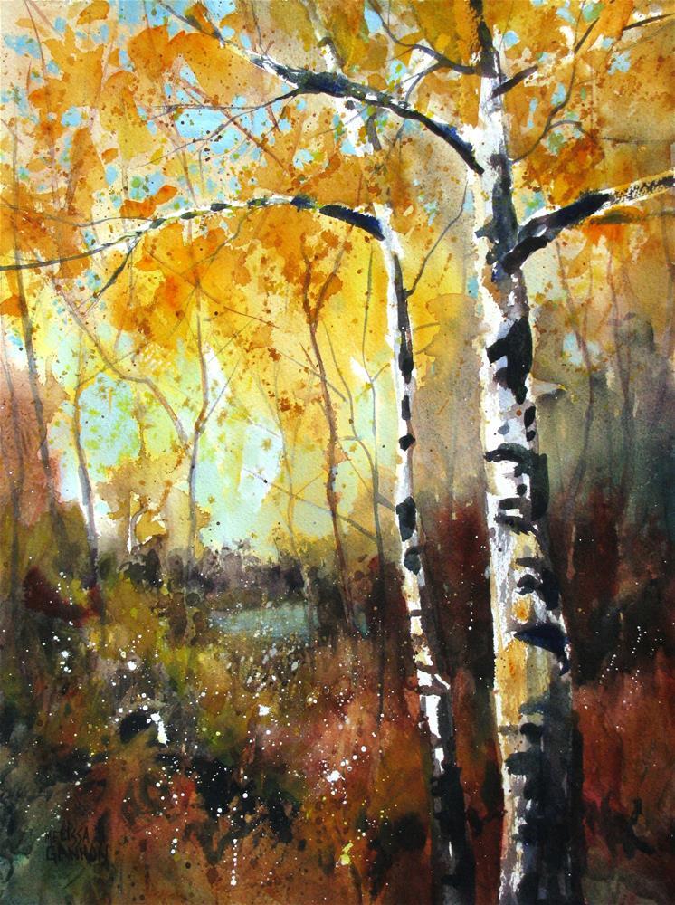 """Walk in my Woods"" original fine art by Melissa Gannon"