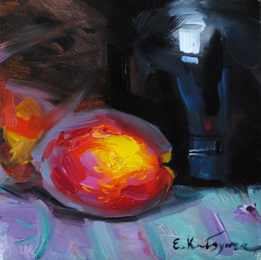"""Peaches"" original fine art by Elena Katsyura"
