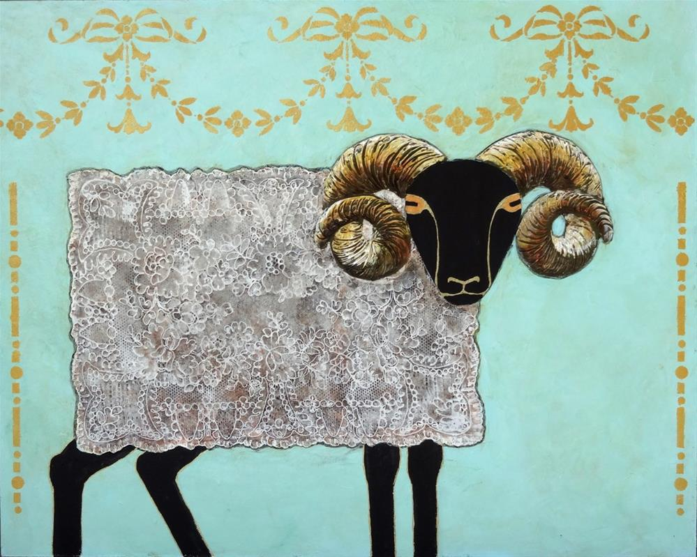 """""""Placemat Ram"""" original fine art by Ande Hall"""