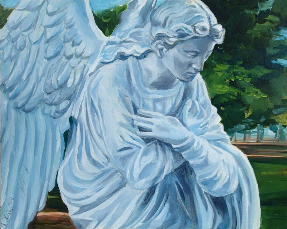 """""""Angel"""" original fine art by Lauren Kuhn"""