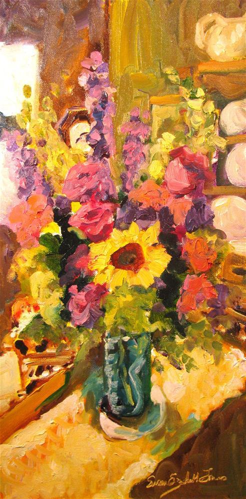 """Jean's Bouquet"" original fine art by Susan Elizabeth Jones"