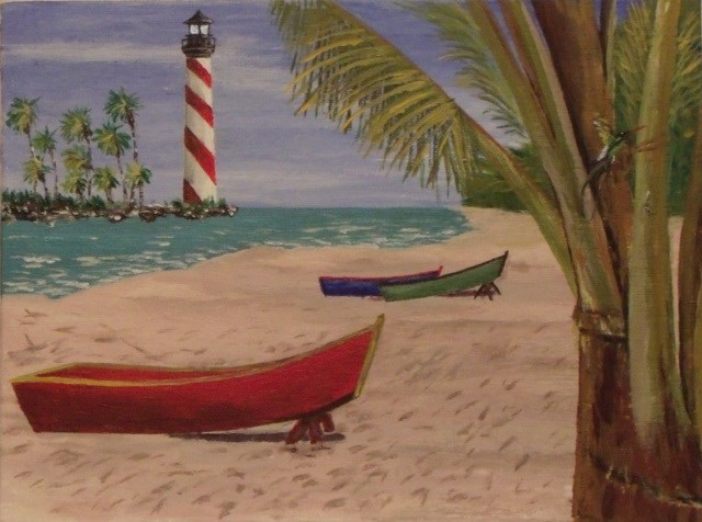 """Down Jamaica Way"" original fine art by Mike Caitham"