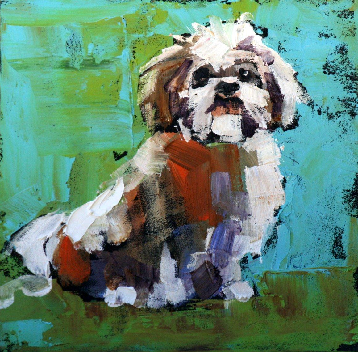 """tucker"" original fine art by Carol Carmichael"