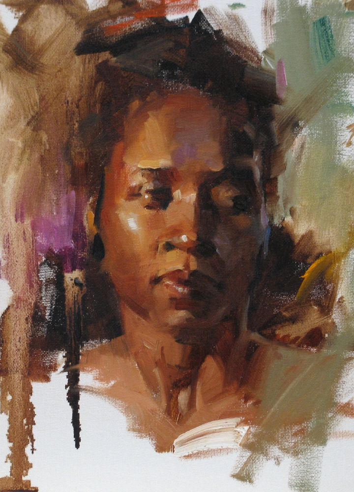 """Head Study 101911"" original fine art by Qiang Huang"