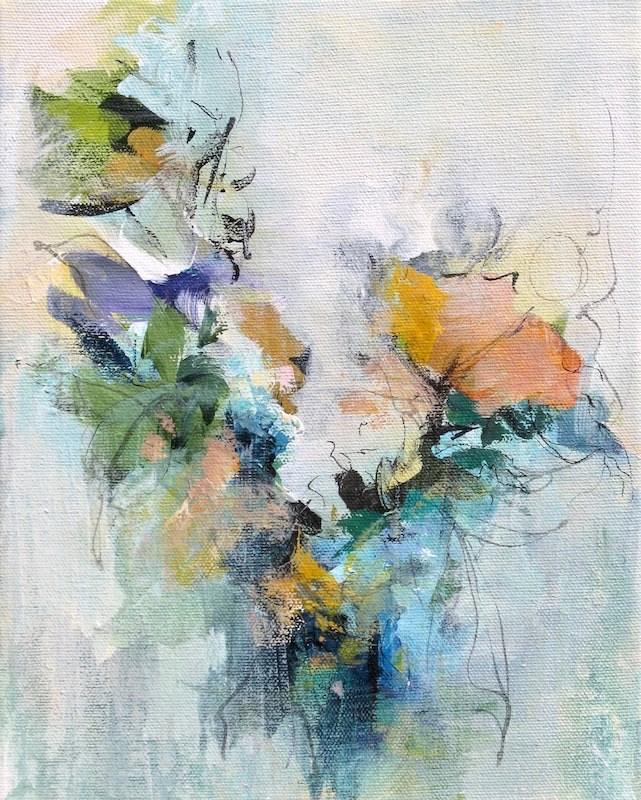 """""""Floral 8"""" original fine art by Karen Hale"""