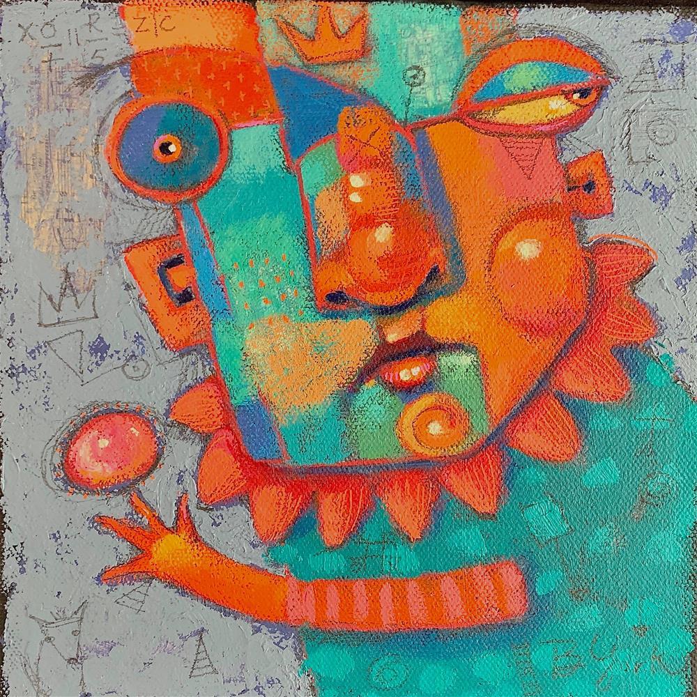 """Finnegan, Patron Saint Of All The Dropped Balls"" original fine art by Brenda York"