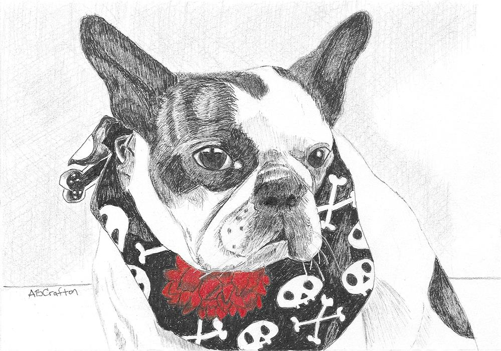 """Bad to the Bone"" original fine art by Arlene Crafton"