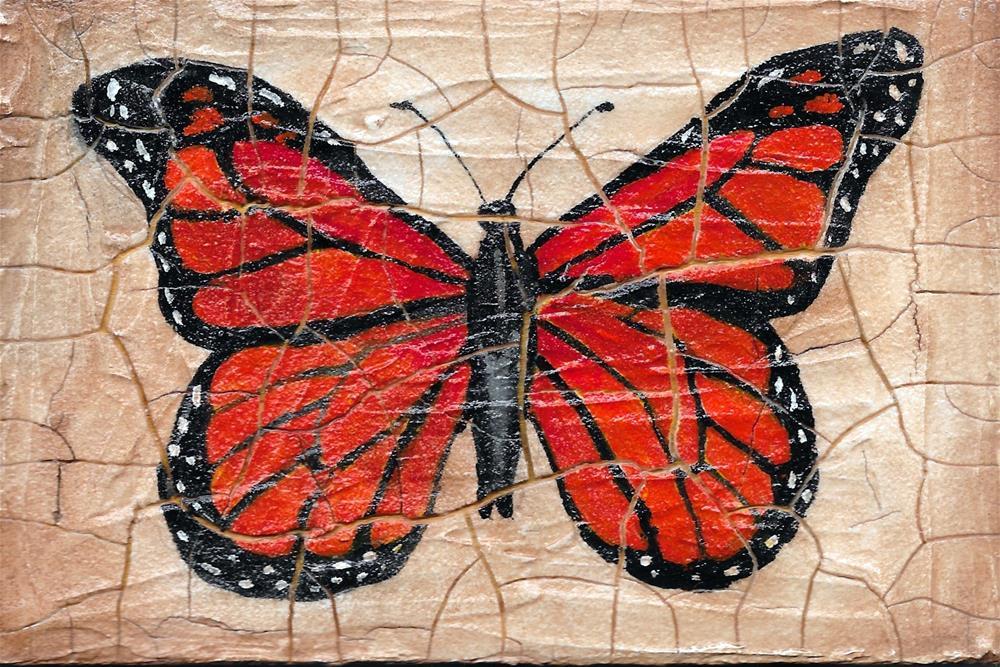 """""""Small Monarch Butterfly"""" original fine art by Lisa Wiertel"""